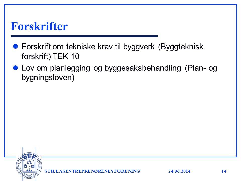 Forskrifter Forskrift om tekniske krav til byggverk (Byggteknisk forskrift) TEK 10.