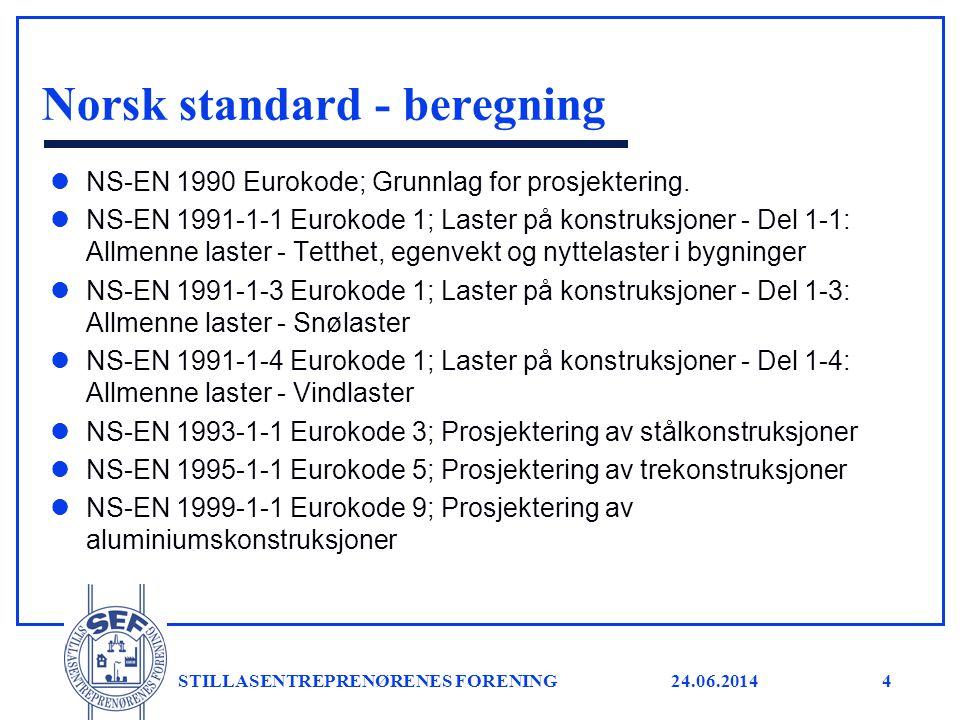 Norsk standard - beregning