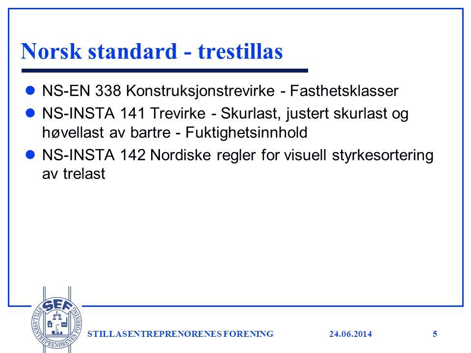 Norsk standard - trestillas