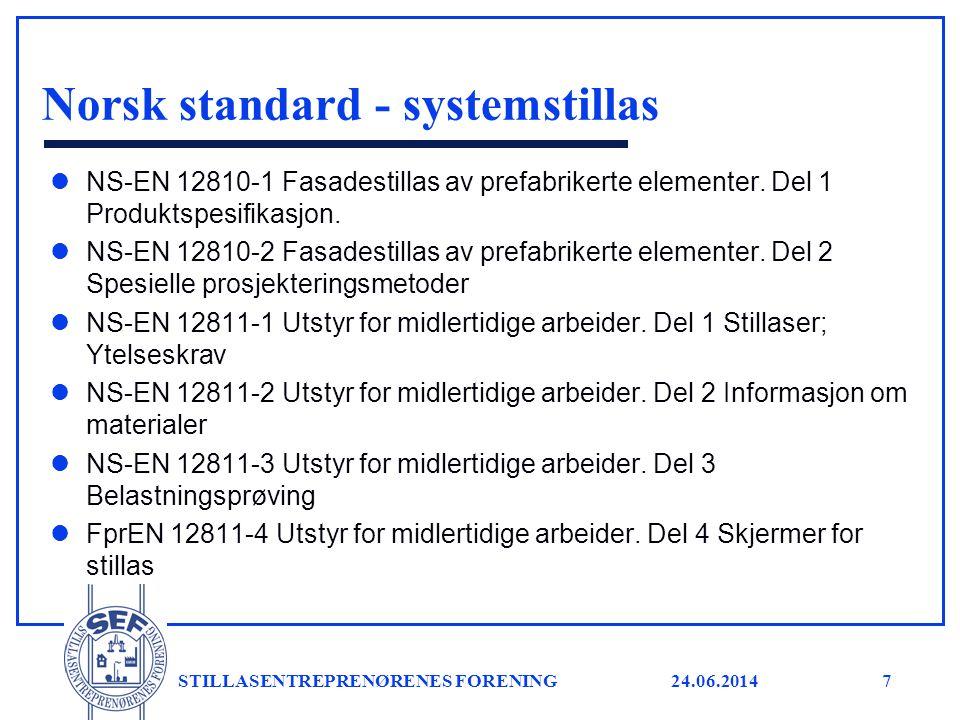 Norsk standard - systemstillas