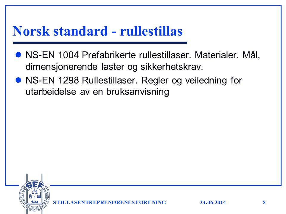Norsk standard - rullestillas