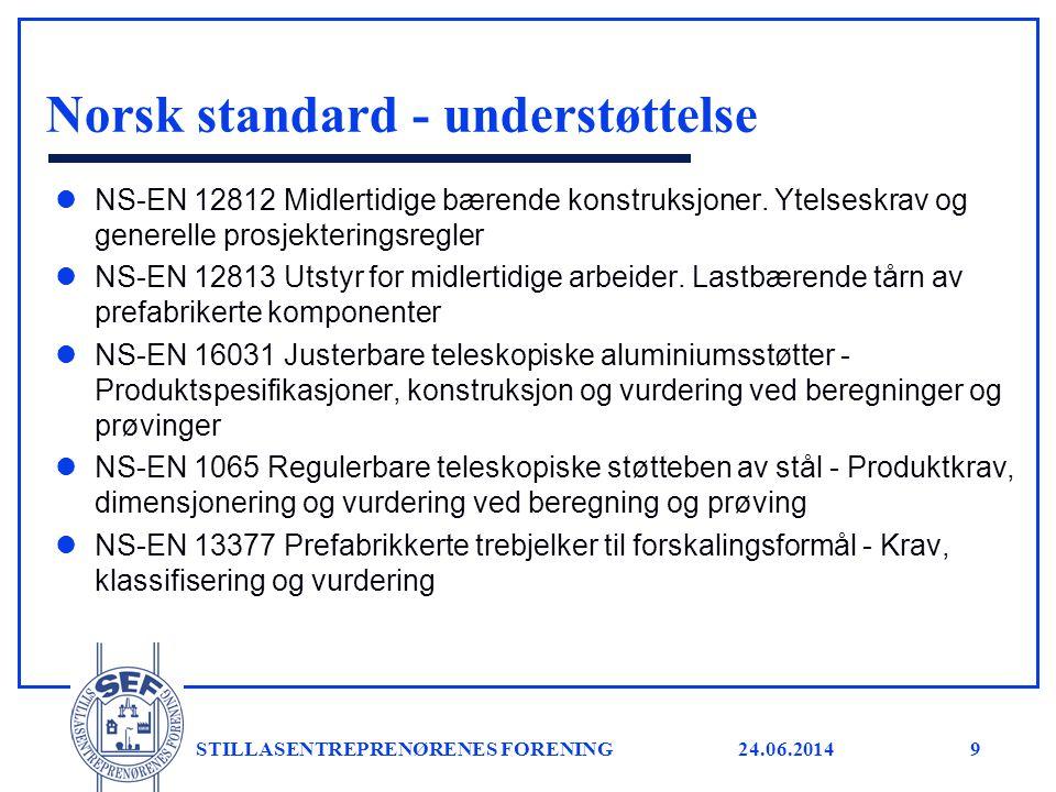 Norsk standard - understøttelse