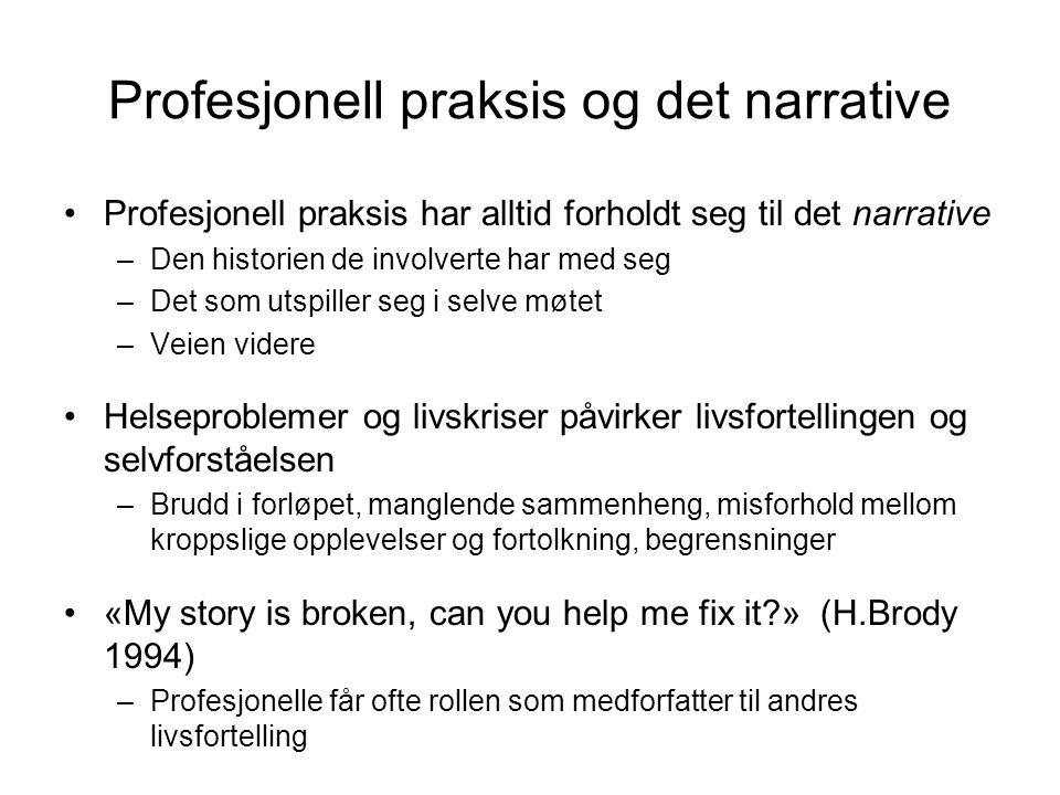 Profesjonell praksis og det narrative