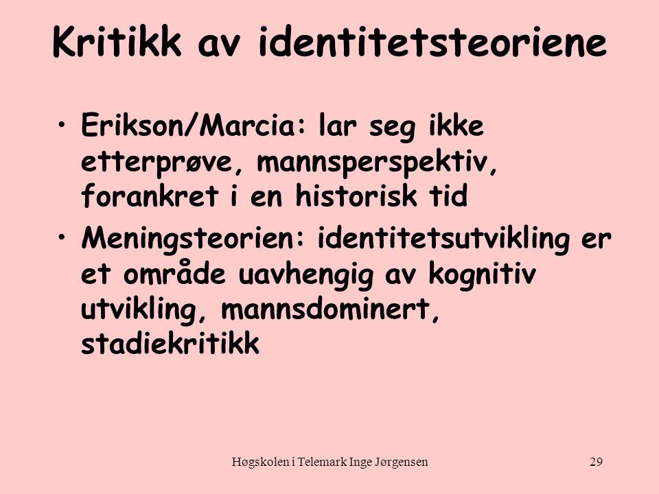 Kritikk av identitetsteoriene