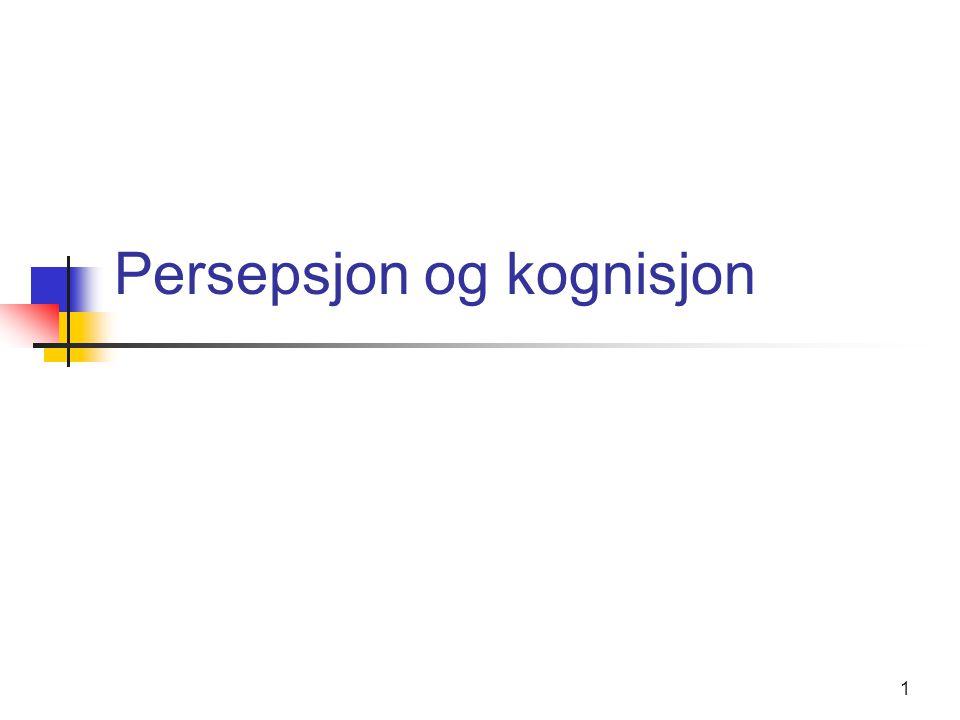 Persepsjon og kognisjon