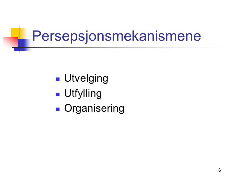 Persepsjonsmekanismene