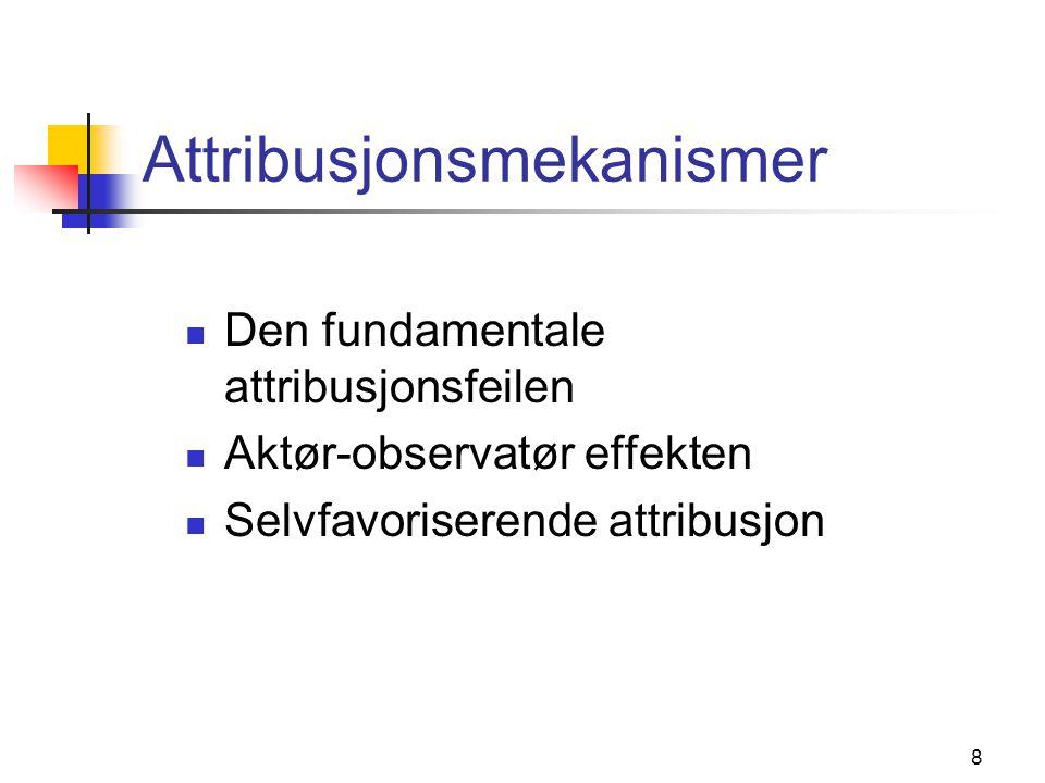 Attribusjonsmekanismer