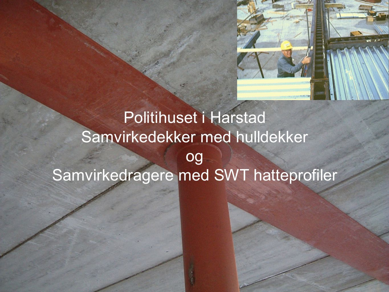 Samvirkedekker med hulldekker og Samvirkedragere med SWT hatteprofiler