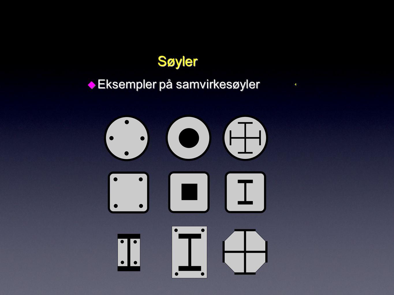 Søyler Eksempler på samvirkesøyler 4