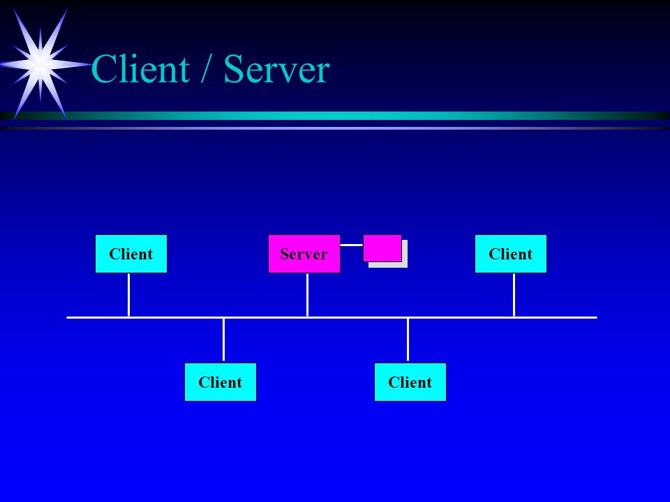 Client / Server Client Server Client Client Client