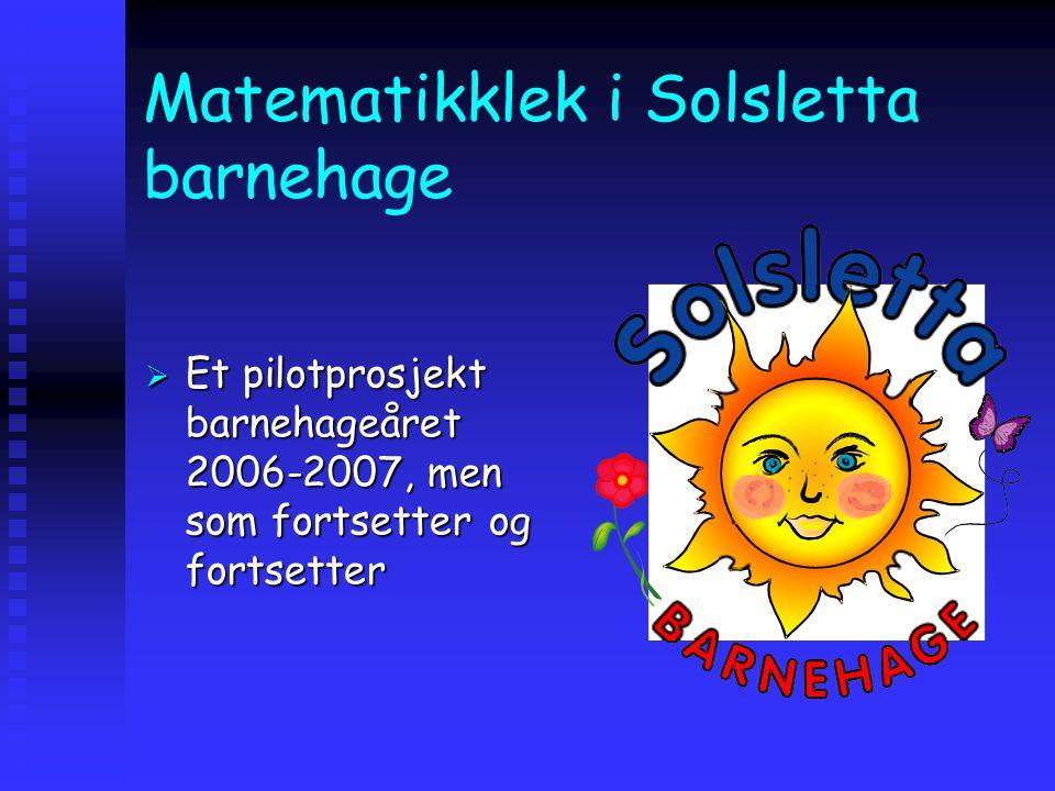 Matematikklek i Solsletta barnehage