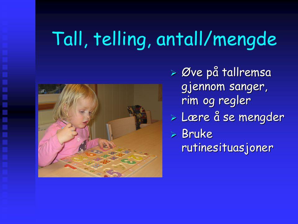 Tall, telling, antall/mengde