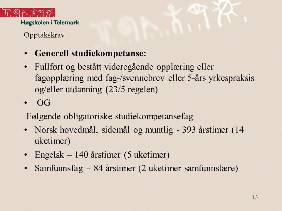 Generell studiekompetanse: