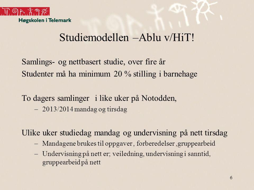 Studiemodellen –Ablu v/HiT!