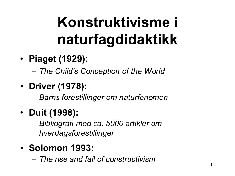 Konstruktivisme i naturfagdidaktikk