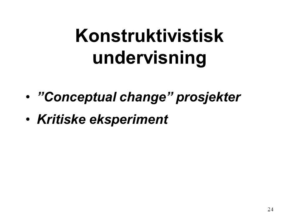 Konstruktivistisk undervisning