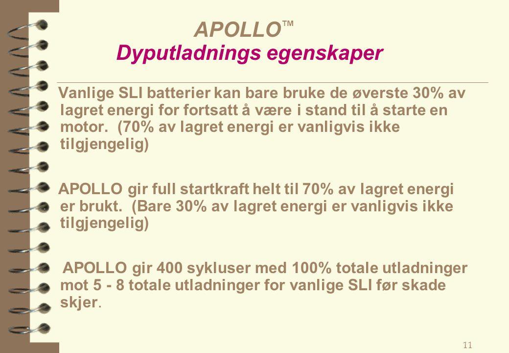 APOLLO™ Dyputladnings egenskaper
