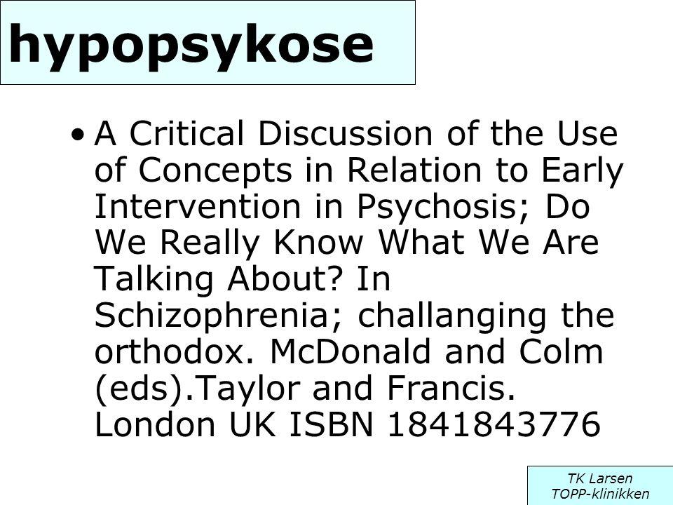 hypopsykose