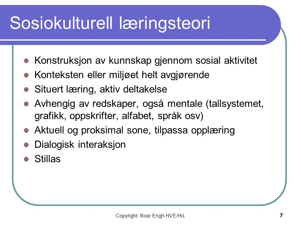 Sosiokulturell læringsteori