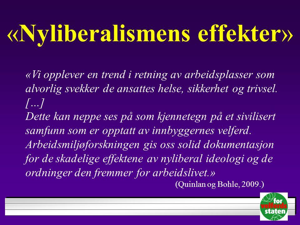 «Nyliberalismens effekter»