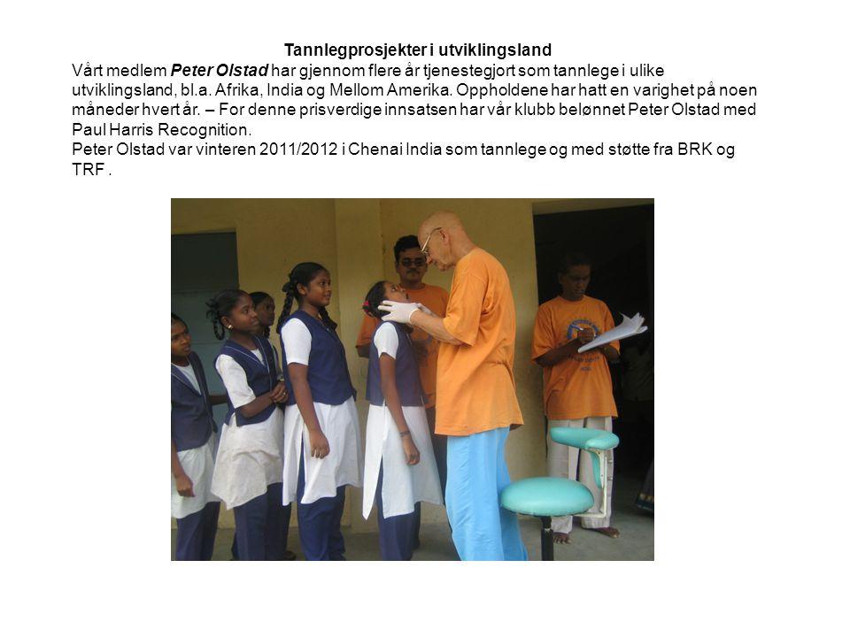Tannlegprosjekter i utviklingsland