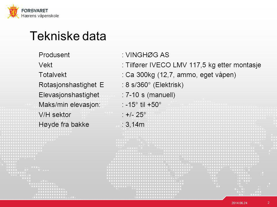 Tekniske data Produsent : VINGHØG AS