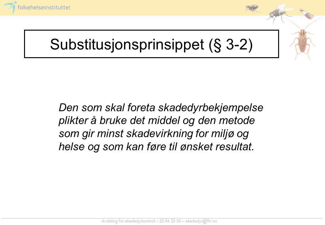 Substitusjonsprinsippet (§ 3-2)