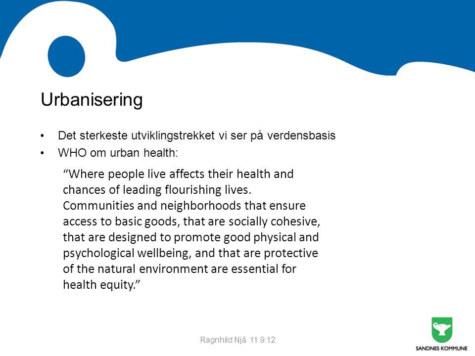 Møte med Time kommune 21.09.11. Urbanisering. Det sterkeste utviklingstrekket vi ser på verdensbasis.