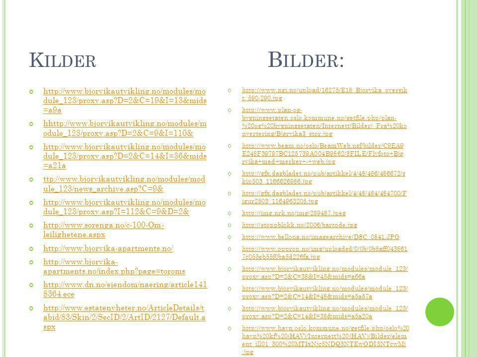 Kilder Bilder: http://www.bjorvikautvikling.no/modules/mo dule_123/proxy.asp D=2&C=19&I=13&mids =a9a.
