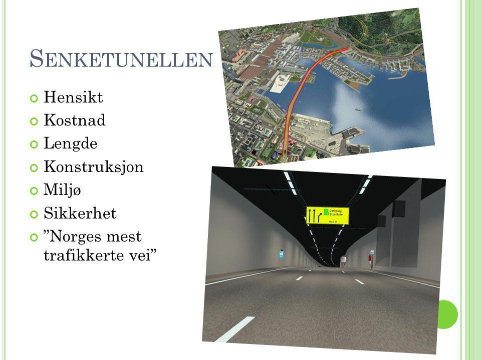 Senketunellen Hensikt Kostnad Lengde Konstruksjon Miljø Sikkerhet