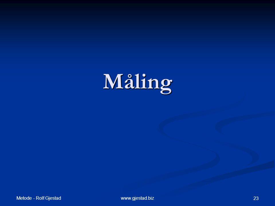 Måling Metode - Rolf Gjestad www.gjestad.biz