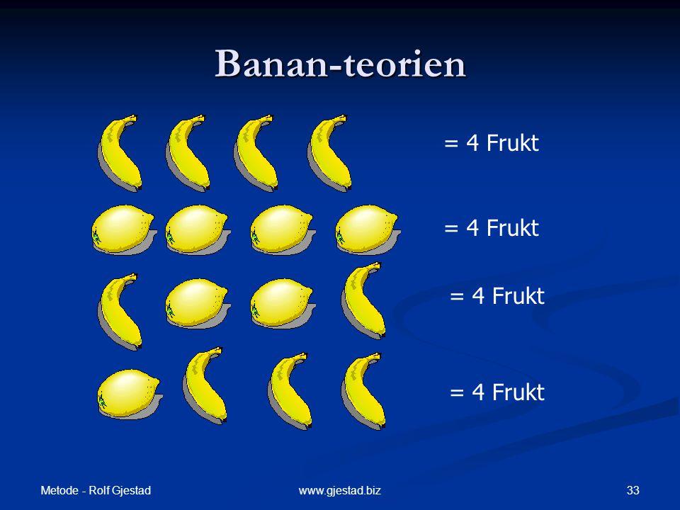 Banan-teorien = 4 Frukt = 4 Frukt = 4 Frukt = 4 Frukt