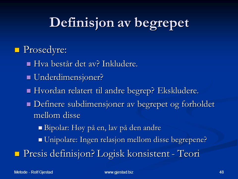 Definisjon av begrepet