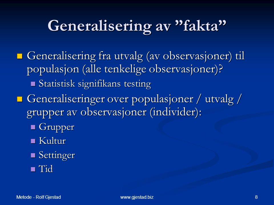 Generalisering av fakta