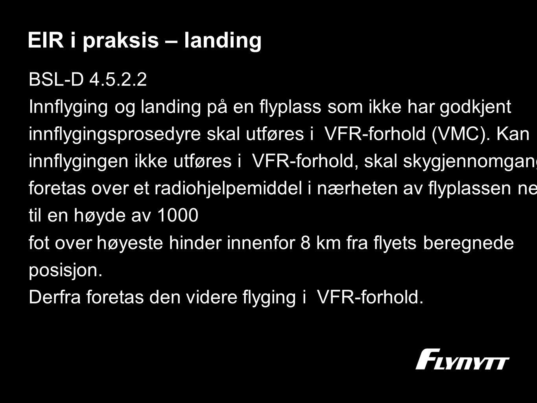EIR i praksis – landing BSL-D 4.5.2.2