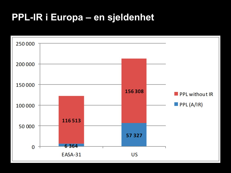 PPL-IR i Europa – en sjeldenhet