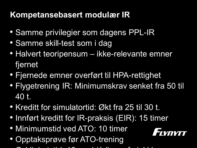 Kompetansebasert modulær IR