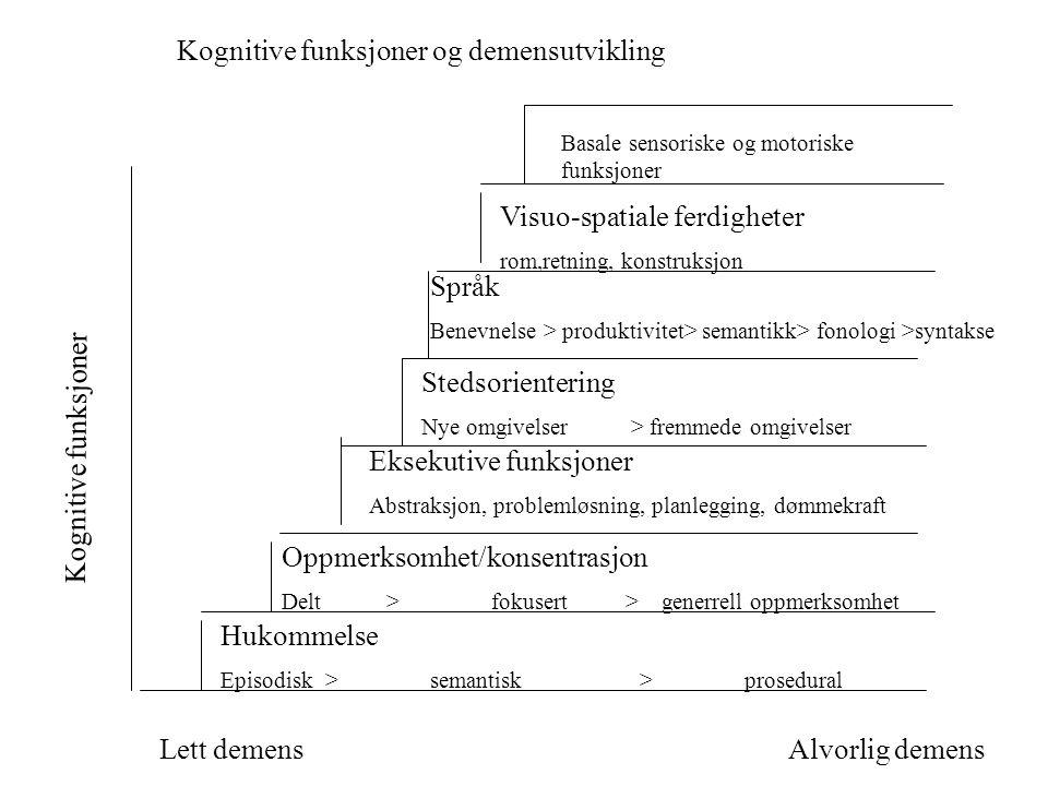 Kognitive funksjoner og demensutvikling