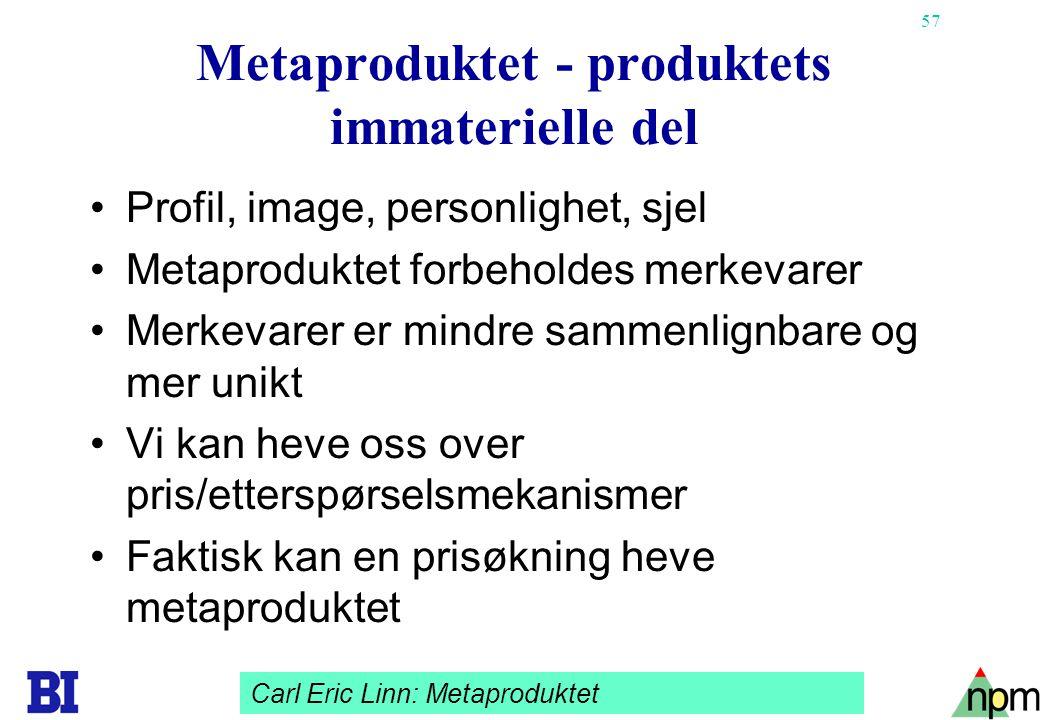Metaproduktet - produktets immaterielle del