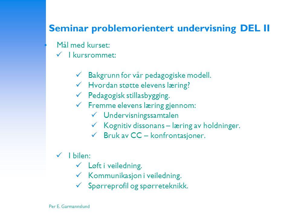 Seminar problemorientert undervisning DEL II