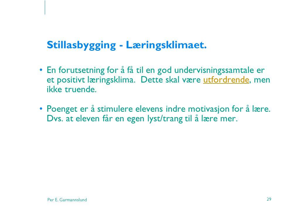 Stillasbygging - Læringsklimaet.