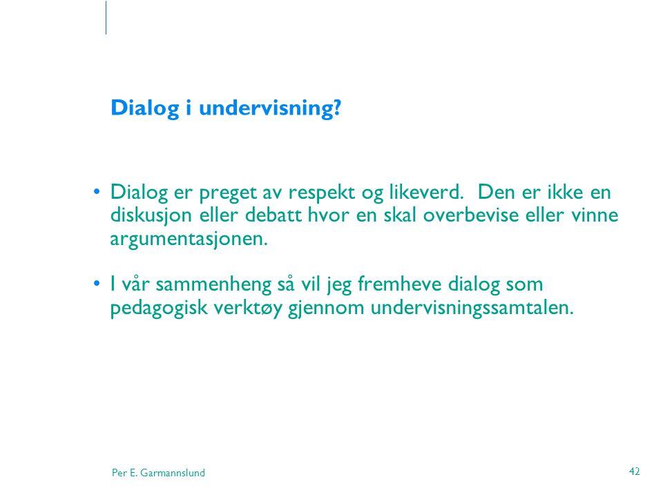 Dialog i undervisning