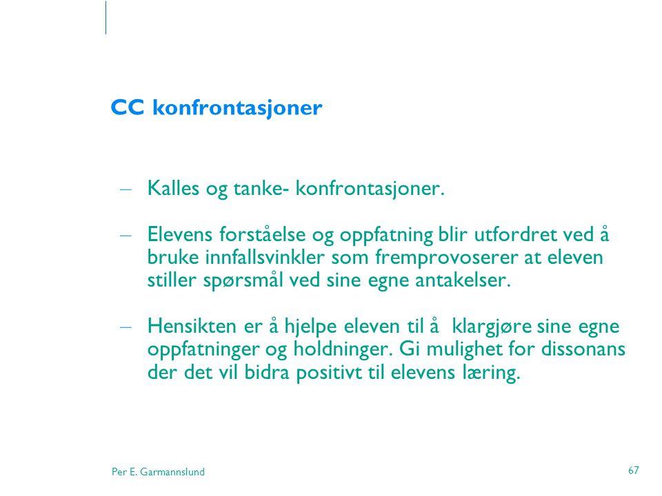 CC konfrontasjoner Kalles og tanke- konfrontasjoner.