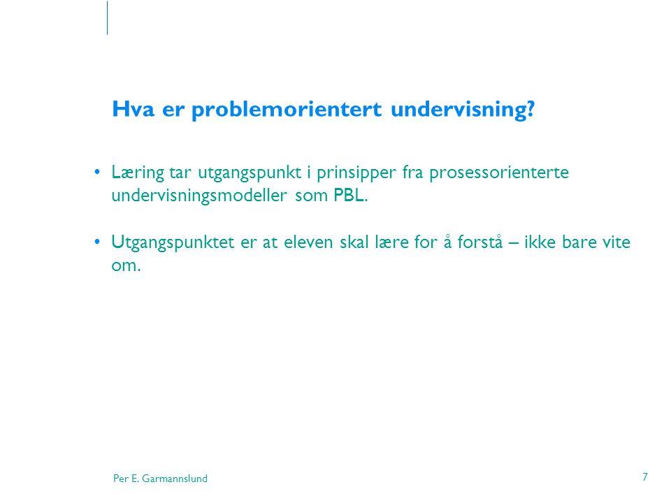 Hva er problemorientert undervisning
