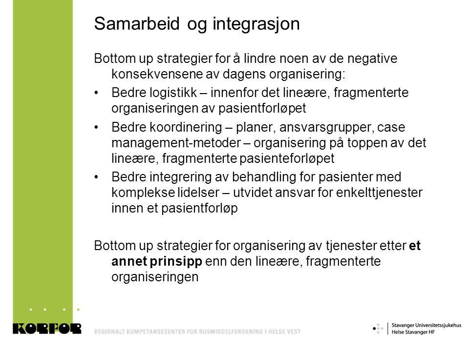 Samarbeid og integrasjon
