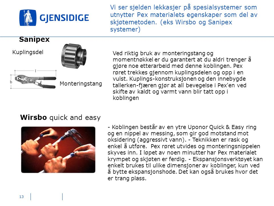 Sanipex Wirsbo quick and easy Kuplingsdel