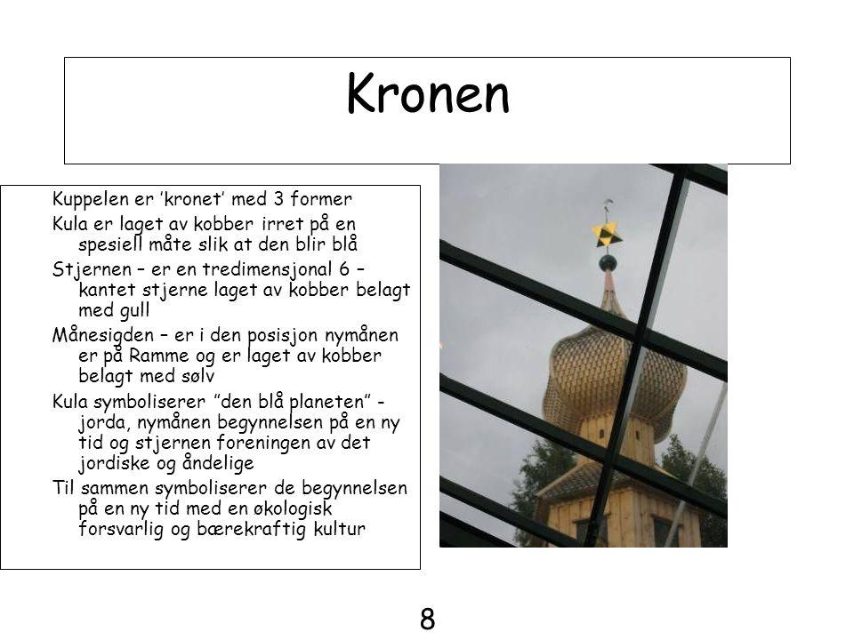Kronen 8 Kuppelen er 'kronet' med 3 former