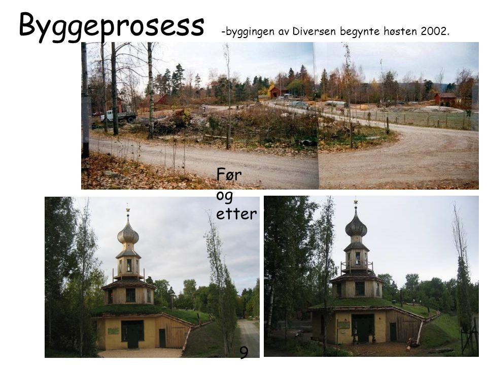 Byggeprosess -byggingen av Diversen begynte høsten 2002.