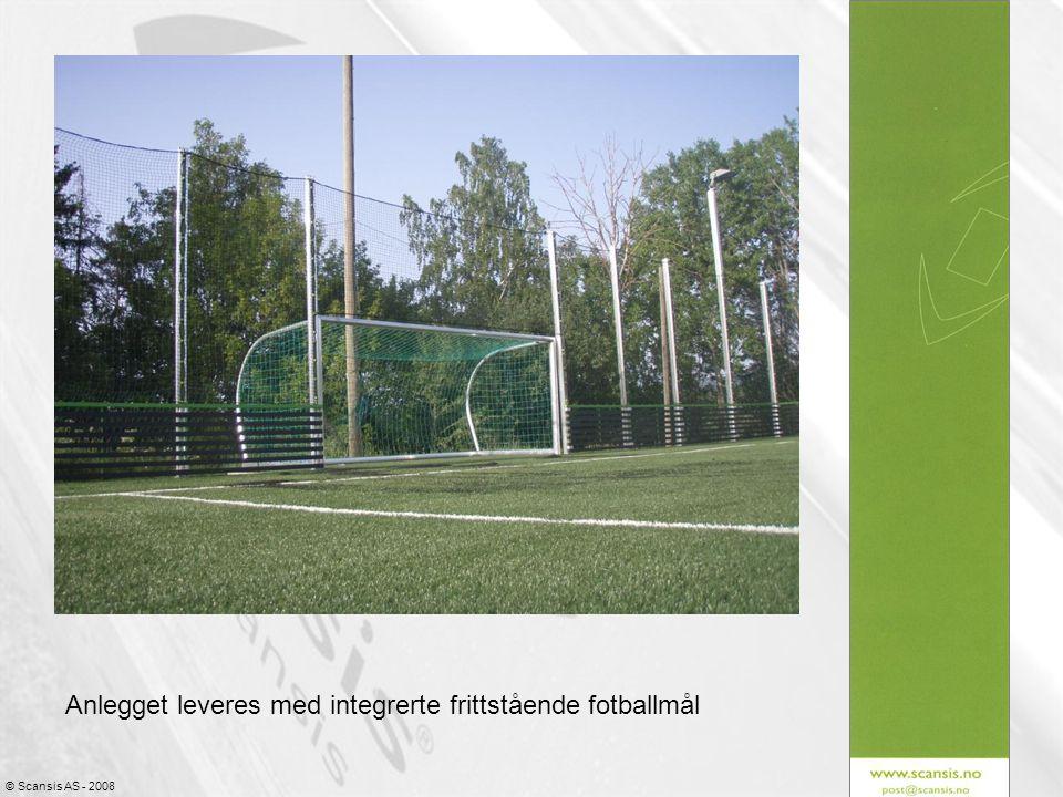 Anlegget leveres med integrerte frittstående fotballmål