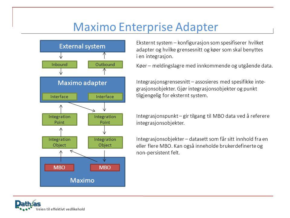 Maximo Enterprise Adapter